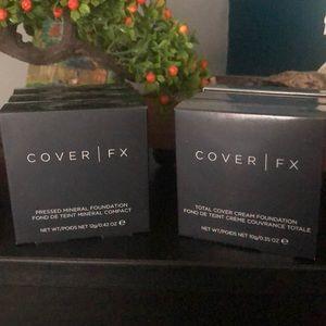 Cover Fx cream and powder foundation